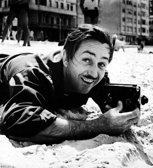 Walt Disney with his 8mm
