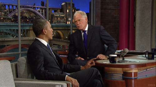I love it when Dave interviews Presidents.