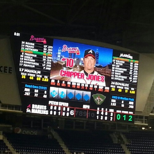 LA-RRY! (Taken with Instagram at Marlins Park)
