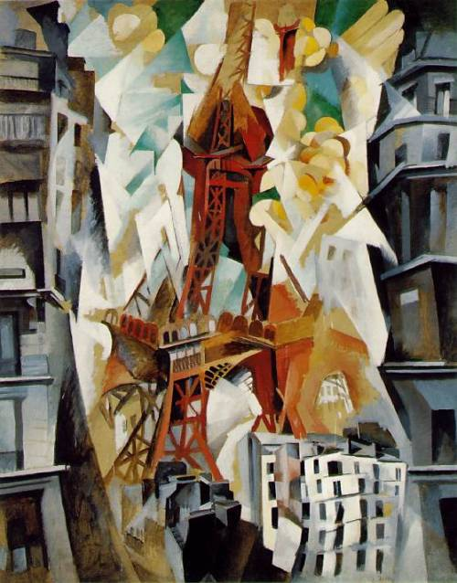 cavetocanvas:  Robert Delaunay, Champ de Mars: The Red Tower, 1911/23