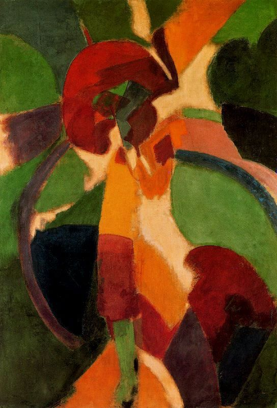 cavetocanvas:  Robert Delaunay, Woman With Umbrella (The Parisienne), 1913