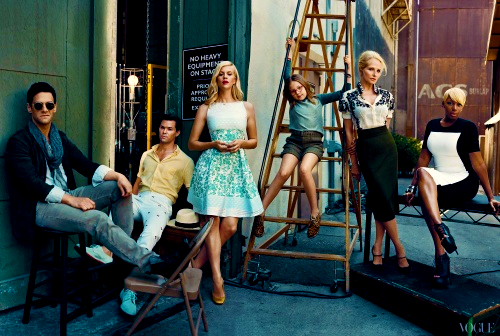 The cast of The New Normal photographed by Norman Jean Roy for Vogue Magazine.