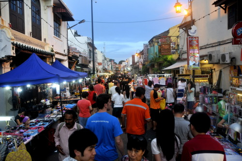 Walking the streets of Malacca.