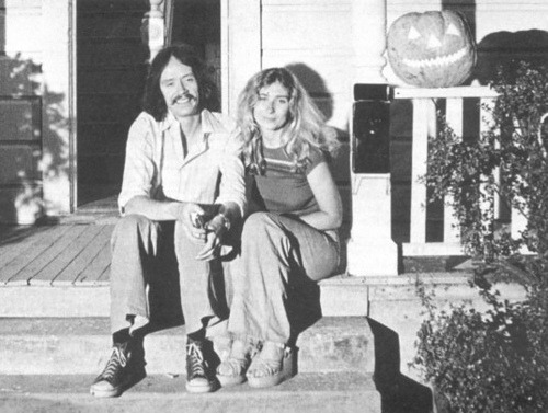 John Carpenter and Debra Hill on the set of Halloween