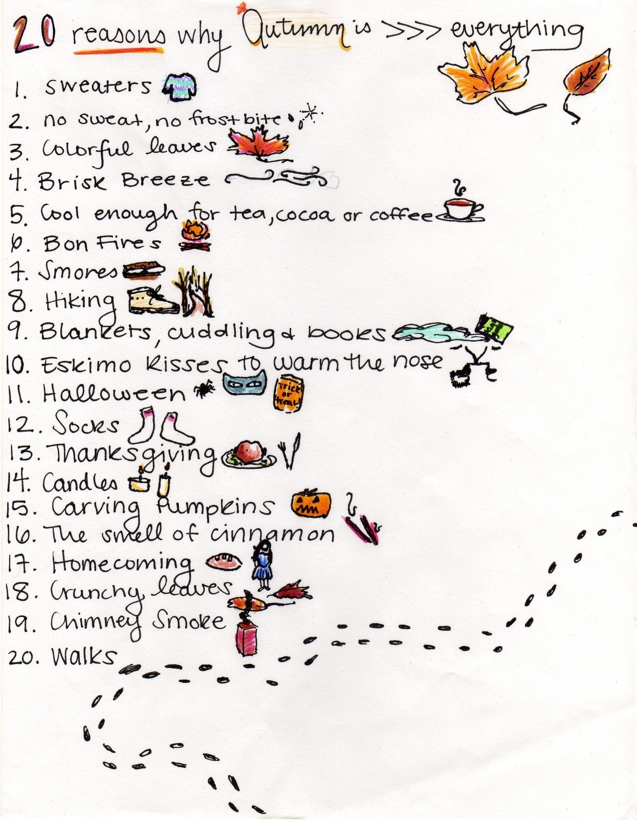 harvestheart:  Autumn List