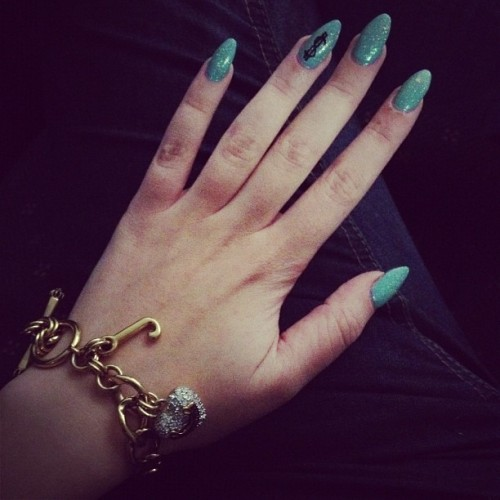 Mermaid nails and bling ;) (Taken with Instagram)