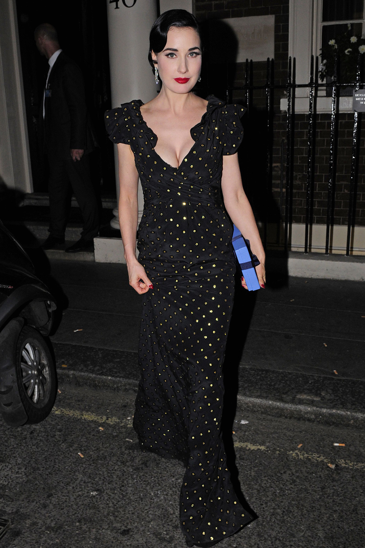 suicideblonde:  Dita Von Teese leaving the Arts Club in London, September 17th