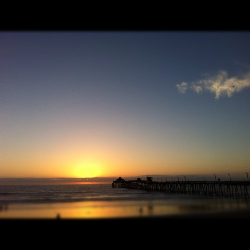 #sunset #imperialbeach #IB #pier #IBpier #beach #ocean #pacific #xs  (Taken with Instagram)