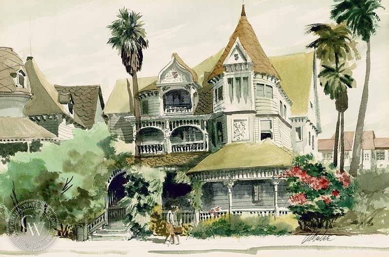 Jake Lee (1915-1991) - Victorian House