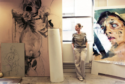 """Jenny Saville In Her Studio"" c. 2005-06  By: BRYAN ADAMS…."