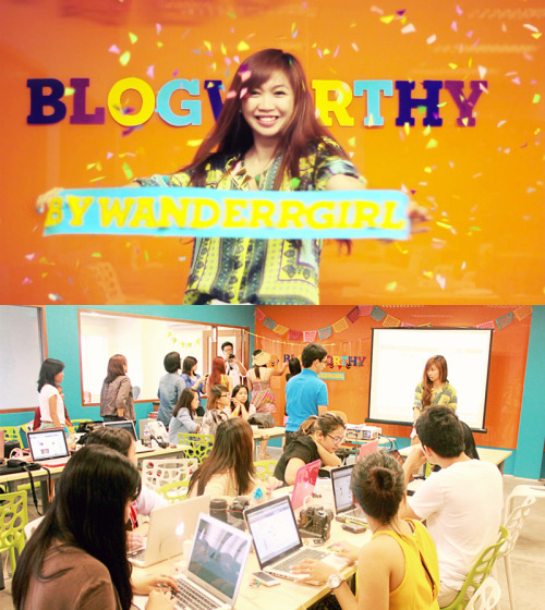 wanderrgirl:  JOIN OUR CREATIVE BLOGGING WORKSHOP THIS WEEKEND! What you'll learn from this 2-day bootcamp: Personal branding Finding your unique blogging voice Creative photoshop skillz How to utilize social media Best blogging practices And did I tell you about all the freebies? (Case in point: See this moving-GIF-crazy post.)  MORE DETAILS + SIGN UPS HERE! ❤