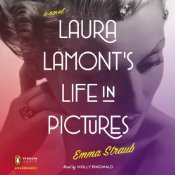 On the nightstand is Laura Lamont's Life in Pictures downloaded through audible and read by the amazing Molly Ringwald
