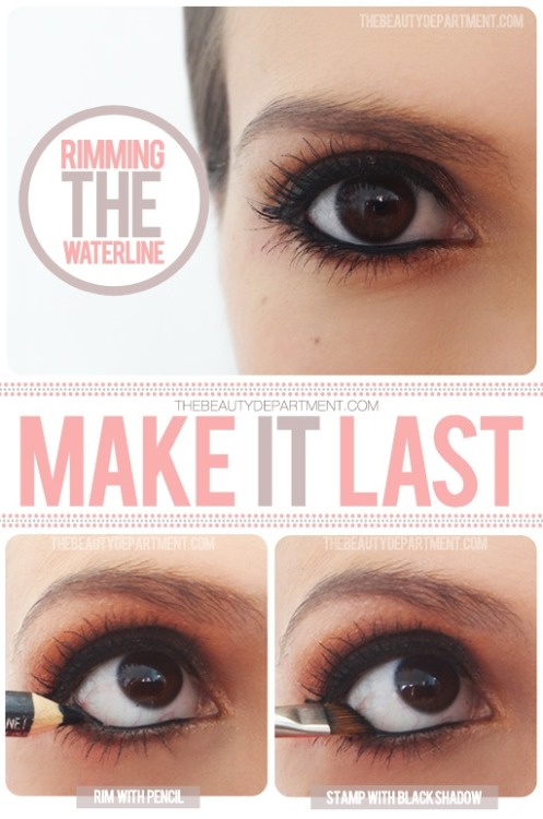 skin-beauty-fashion:  DIY - Keep your inner liner from disappearing with this tip.