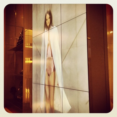 watching @burberry show in #sf - live the in store screens  (Taken with Instagram)