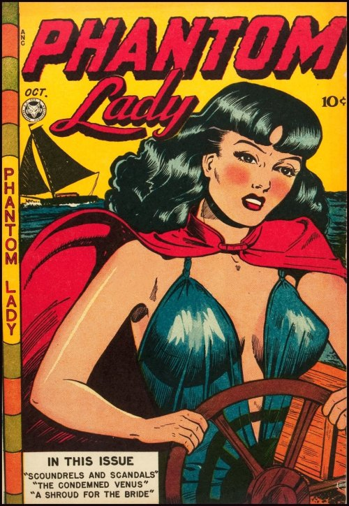 Phantom Lady, comic book cover, 1940sCover art: Matt Baker Source: Golden Age Comic Book Stories