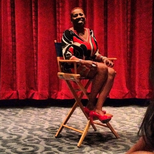 IyanlaVanzant all smiles… #straightfromthea  (Taken with Instagram)