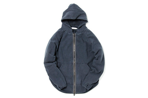 nonnative - DWELLER HOODED FULL ZIP - COTTON OVER DYED SWEAT