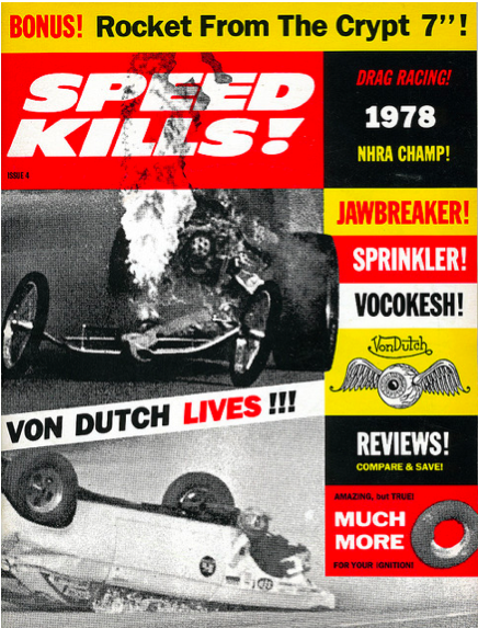 Speed Kills, Spring 1993Cover design: Art Chantry Source: Magazine Collection