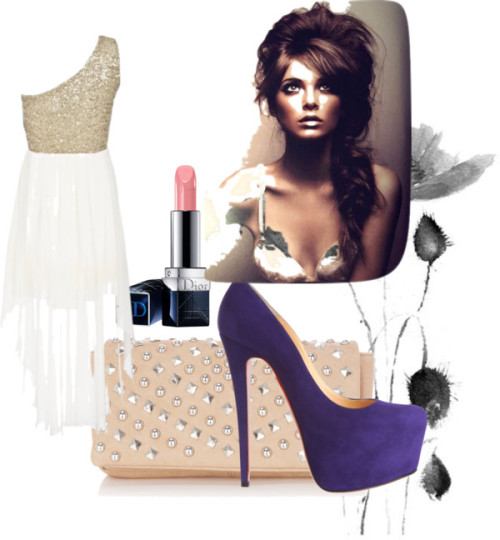 Rockin' Ethereal by thefaashvictim featuring high heelsSequin dress, $57 / Christian Louboutin high heels / Warehouse , $42 / Christian Dior