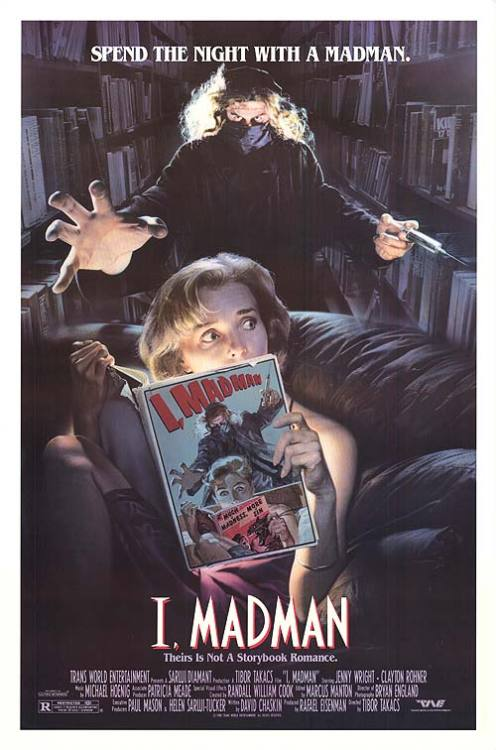 "Movie poster for the 1989 film ""I, Madman"" starring Jenny Wright. Click the pic to watch the trailer."