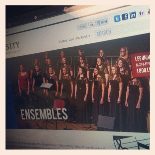 Look at that! Ladies on the lee university website #represent (Taken with Instagram at Nora Chambers)