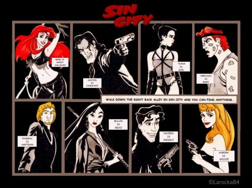 dirtydisneydames:  Disney Sin City by *Larocka84  Love it