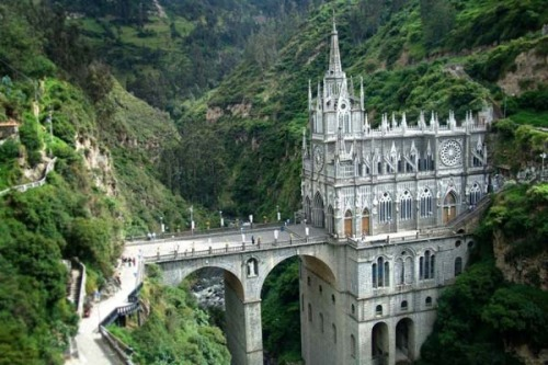 racheyz:  Las Lajas Cathedral—Columbia, South America