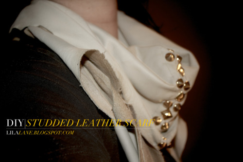 Learn how to make this beautiful studded leather scarf by clicking on the picture above! Feels good to be back!