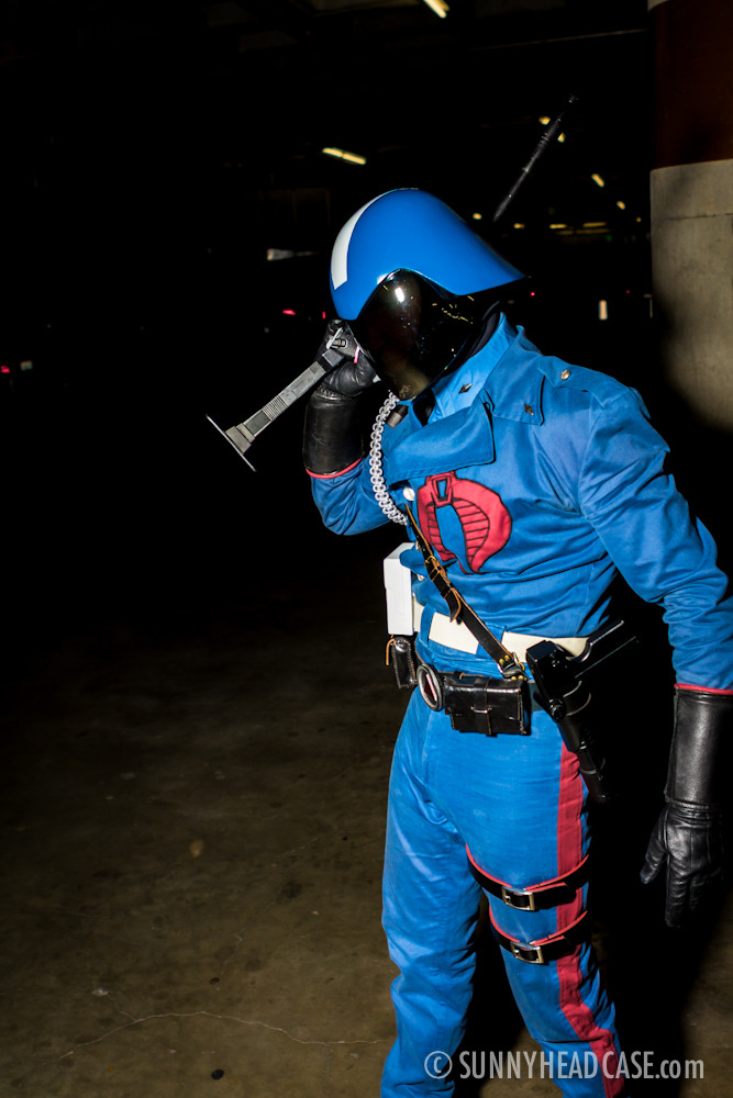 Comikaze 2012: Cobra Commander in a dark alley