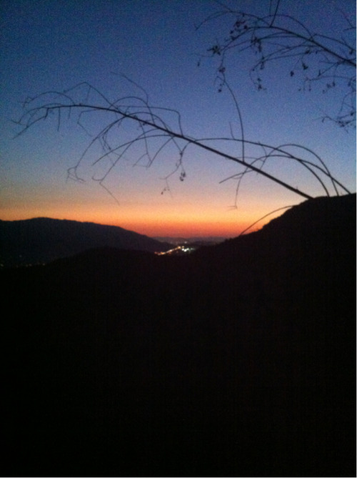 Night hike sunset