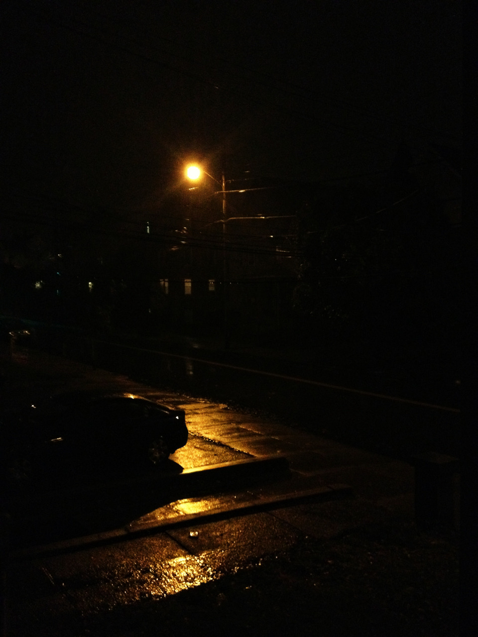 Rainy night in Boston