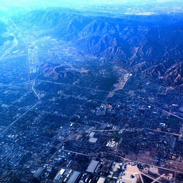 Los Angeles, California traffic perspective from 15,000ft #traveltuesday #TT (Taken with Instagram)