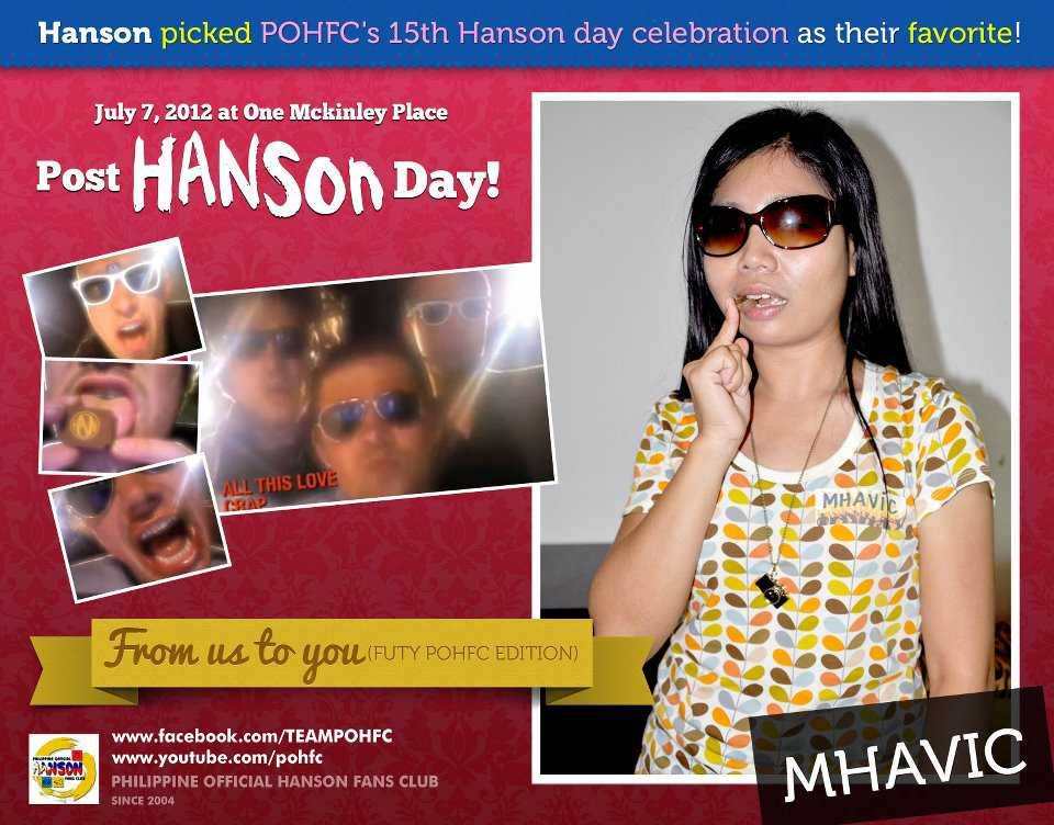 philippineofficialhansonfc:  Philippine Official Hanson fans club July 7,2012 party!