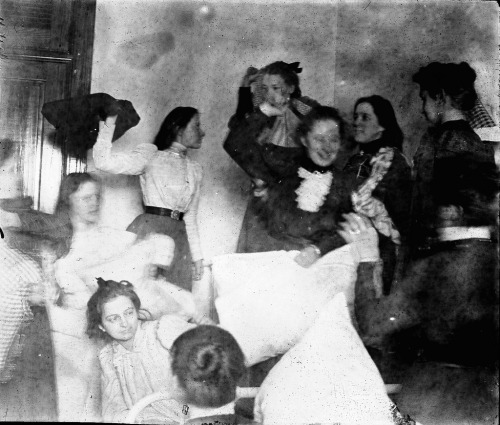 Pillow Fight, women CVSNS (Cumberland Valley State Normal School)