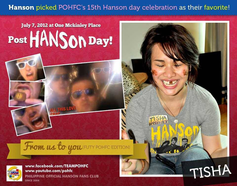 philippineofficialhansonfc:  Philippine Official Hanson fans club July 7, 2007 Party!