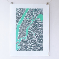 lasai:  betype:  Map of NYC (by Ursula Hitz)  lahv this