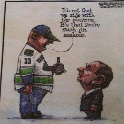 fuckyeahhockey:  Vox populi jccanucks:  @canucks #gary #bettman #garybettman #hockey @nhl #nhl (Taken with Instagram)