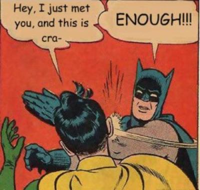 Maybe, since no one will listen to me, you might finally listen when Batman says it.