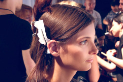 Backstage at Tommy Hilfiger Spring 2013 - Ava Smith