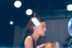 Backstage at Tommy Hilfiger Spring 2013 - Kasia Struss