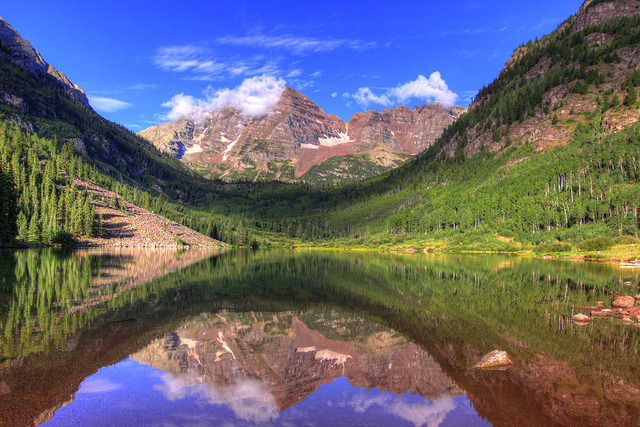 Maroon Bells, White River National Forest, Colorado by RFinTX on Flickr.
