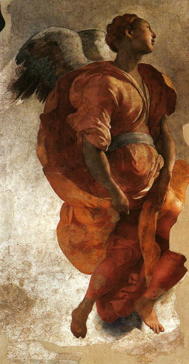 drawpaintprint:  Jacopo Pontormo:  The Annunciation (1527-28) Detail. Florence, Italy