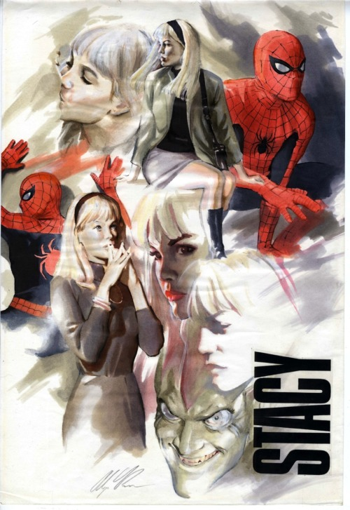 Gwen Stacy (SpiderMan) par Alex Ross