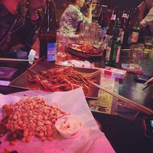 소맥 with the 싸이 crew (Taken with Instagram at Mok Maru Jong Sul Jip)