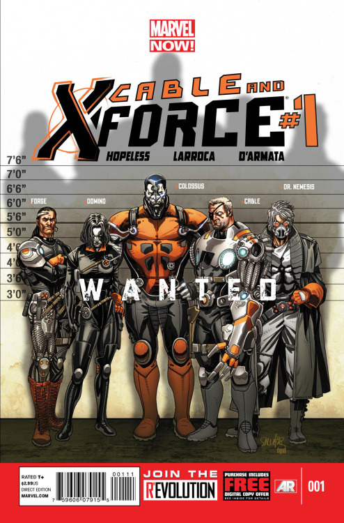 NEW CABLE & X-FORCE title from MARVEL - interesting new team, although I do admit I like the Wolverine led team featuring Warpath, Psylocke, Archangel, Phantomex and Deadpool. Interested to see what Hopeless writes for LaRocca to put on paper.
