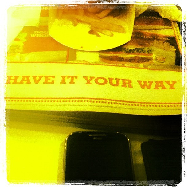 VALUE meal. #ponderable  (Taken with Instagram at Burger King)