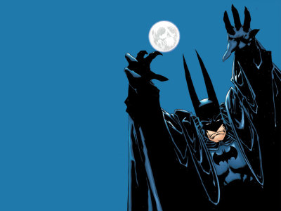 Here's a nice big desktop wallpaper, Batman by Kelley Jones.  Follow RadRecorder into the Batcave.