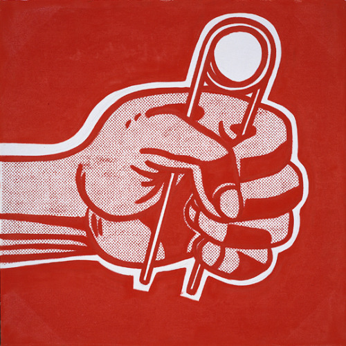 black-hands:  The Grip (1962) by Roy Lichtenstein. Found here.