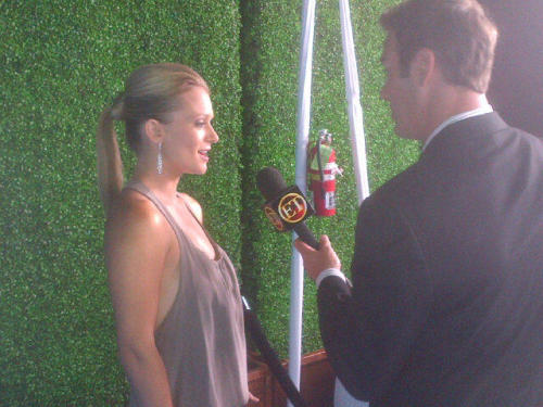 ‏@Cheekv: @ajcookofficial being interviewed by ET at our Premiere Party just a moment ago…