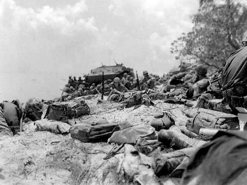Saipan: Red Beach #2 at 1300 Dday.